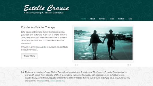 website of psychologist estelle crause